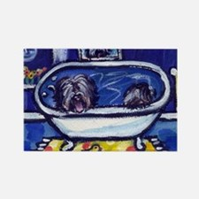 TIBETAN TERRIER bath Rectangle Magnet