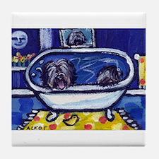 TIBETAN TERRIER bath Tile Coaster