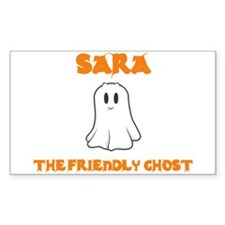 Sara The Friendly Ghost Rectangle Decal