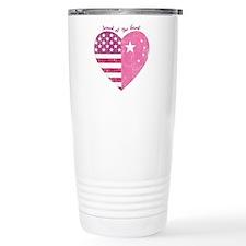 Joined at the Heart (pink) Travel Mug