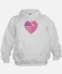 Joined at the Heart (pink) Hoodie