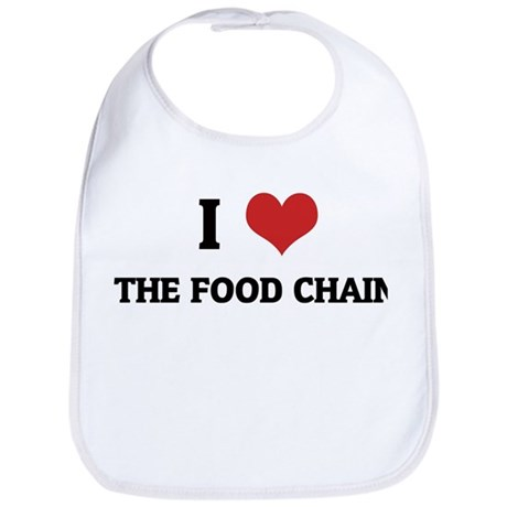 I Love The Food Chain Bib