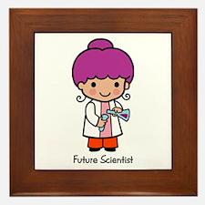 Future Scientist - girl Framed Tile