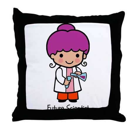 Future Scientist - girl Throw Pillow