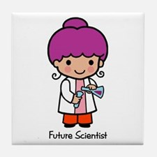 Future Scientist - girl Tile Coaster