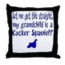 My Grandchild is a Cocker Spaniel Throw Pillow