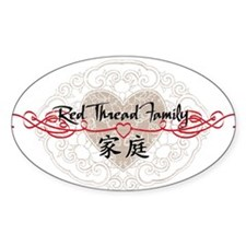 Red Thread Family Oval Decal
