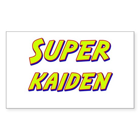 Super kaiden Rectangle Sticker