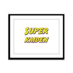 Super kaiden Framed Panel Print