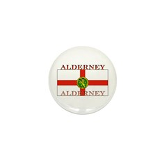 Alderney Flag Mini Button (100 pack)