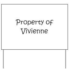 Unique Vivienne Yard Sign