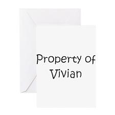 Cute Vivian Greeting Card