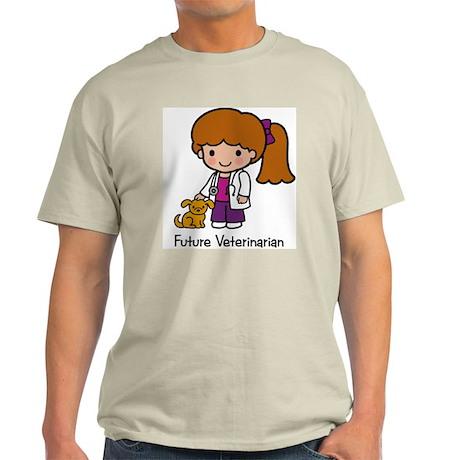 Future Veterinarian Girl Ash Grey T-Shirt