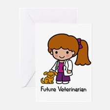 Future Veterinarian Girl Greeting Cards (Package o