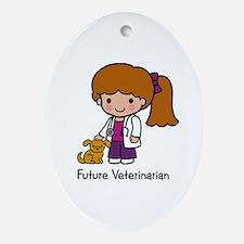 Future Veterinarian Girl Keepsake (Oval)