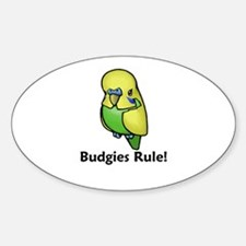 Budgies Rule! Oval Decal