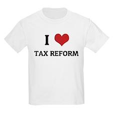 I Love Tax Reform Kids T-Shirt