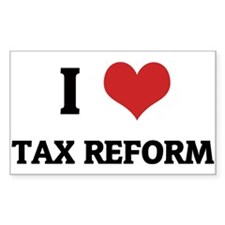 I Love Tax Reform Rectangle Decal