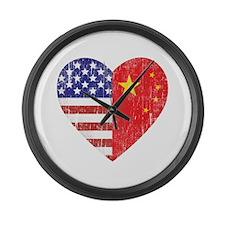 Family Heart Large Wall Clock