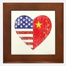 Family Heart Framed Tile