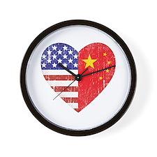 Family Heart Wall Clock