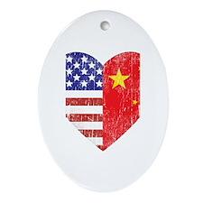Family Heart Oval Ornament