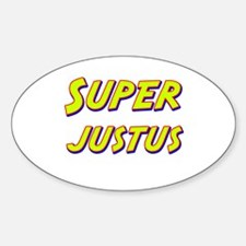 Super justus Oval Decal