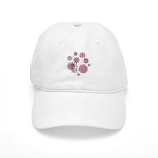 Big Sister with Flowers Baseball Cap