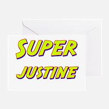 Super justine Greeting Card