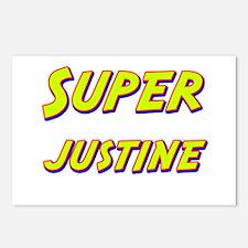 Super justine Postcards (Package of 8)