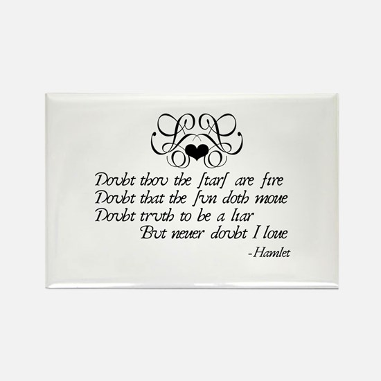 Never Doubt Ophelia Rectangle Magnet (10 pack)