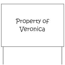 Unique Veronica Yard Sign