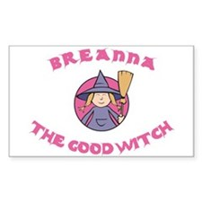 Breanna The Good Witch Rectangle Decal
