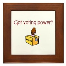 Got Voting Power? Framed Tile