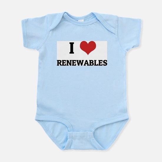I Love Renewables Infant Creeper