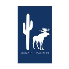McCain/Palin Western Icons Rectangle Decal
