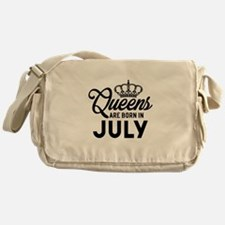 Queens Are Born In July Messenger Bag