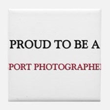 Proud to be a Sport Photographer Tile Coaster