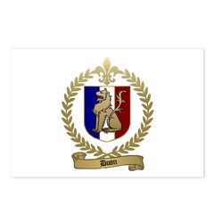 DUON Family Crest Postcards (Package of 8)