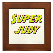 Super judy Framed Tile
