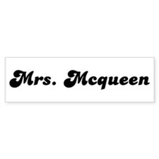 Mrs. Mcqueen Bumper Bumper Sticker