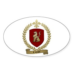 CAHOUET Family Crest Oval Decal