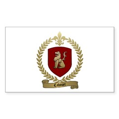 CAHOUET Family Crest Rectangle Decal