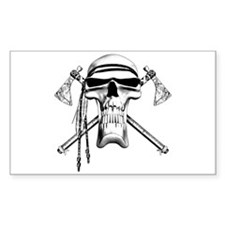 Indian Skull Rectangle Decal