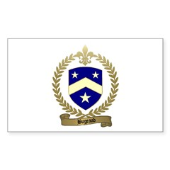 BUGEAUD Family Crest Rectangle Decal