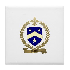 BUGEAUD Family Crest Tile Coaster