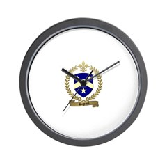 BUGEAUD Family Crest Wall Clock