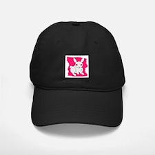 BUNNY PINK BACKGROUND Black Cap/HAT