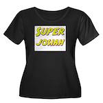 Super josiah Women's Plus Size Scoop Neck Dark T-S