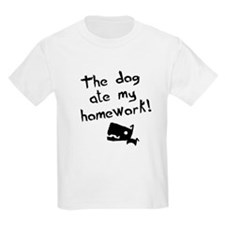 The Dog Ate My Homework Kids T-Shirt